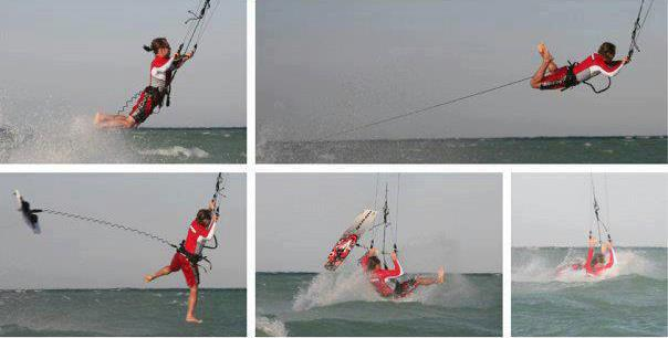 Kitesurfing lessons Scotland - Edinburgh Glasgow Dundee Aberdeen Inverness board leash accident