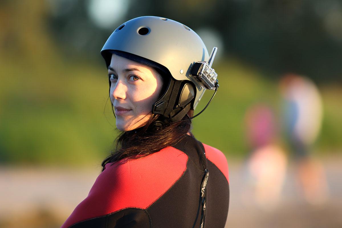 Kitesurfing lessons Scotland - Edinburgh Glasgow Dundee Aberdeen Inverness - Instructor - Polly